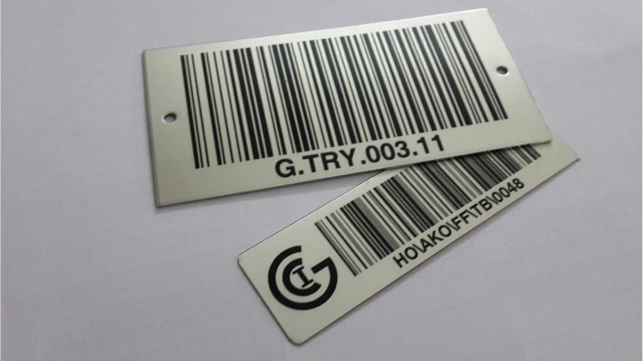 Aluminum Bar Code Labels - 01