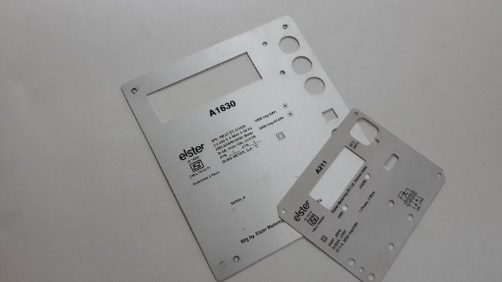 Aluminum Control Panel Labels - 01