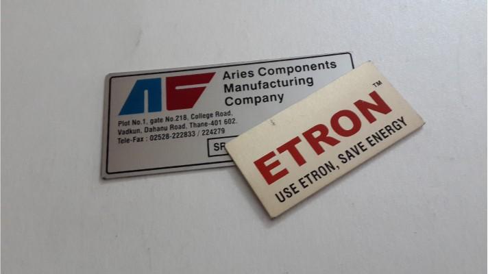 Aluminum Labels - 13