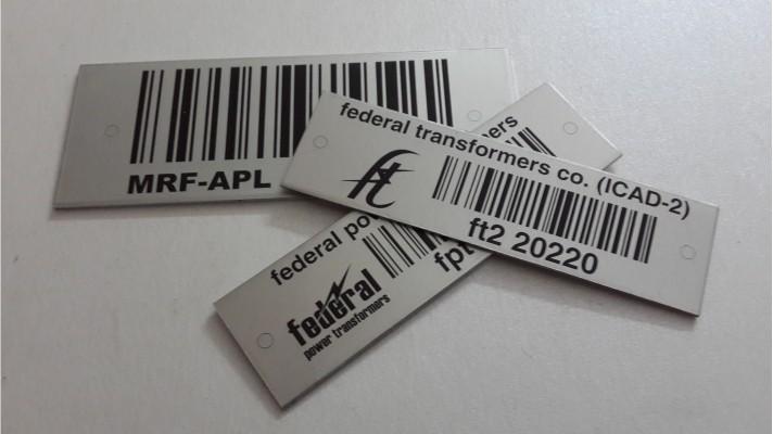 Aluminum Bar Code Labels - 03
