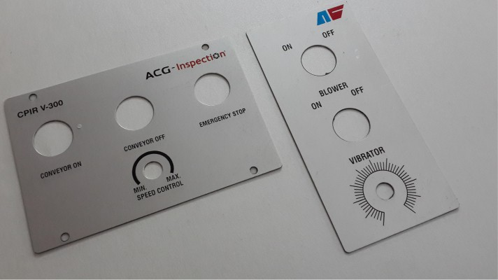 Aluminum Control Panel Labels - 02