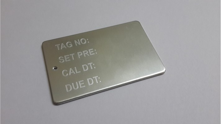 Aluminum Engraved Tags - 02