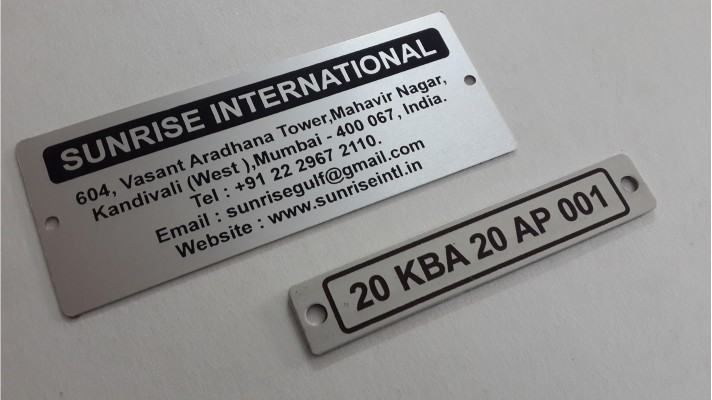 Aluminum Engraved Tags - 05