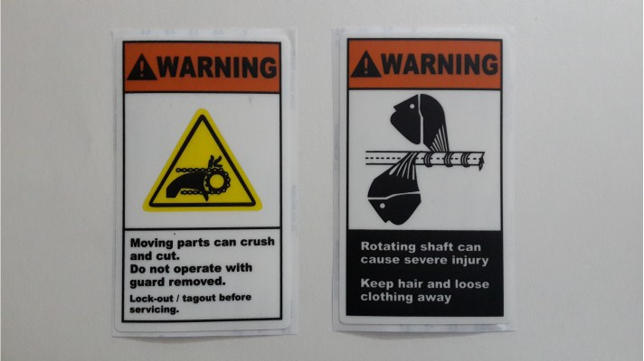 Polycarbonate Warning Labels - 01